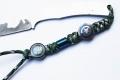 香港MG-钛合金刀坠O款美国队长双弧面吊坠,连接器锁紧器,钛合金挂件